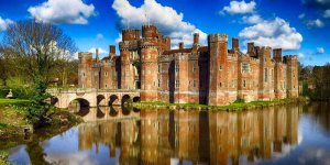 Herstmonceux Castle and moat