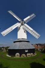 Herstmonceux Windmill against a blue sky